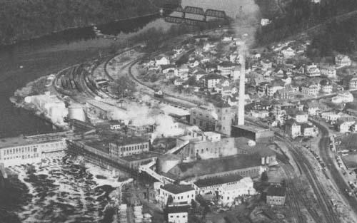Otis Falls Paper Company in Jay